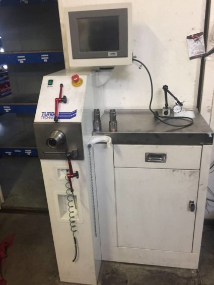 TURBO TECHNICS – TURBOLADER VTG flow belt adjustment machine for sale
