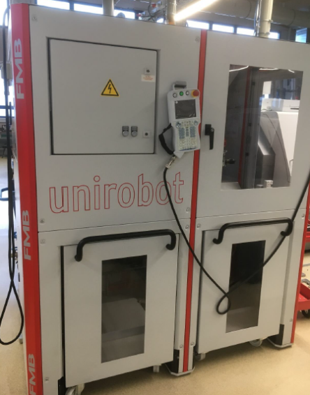 FMB Unirobot MH5LS-2PW robot cell 2PW with two pallet trucks for sale