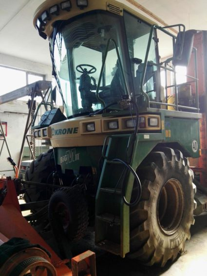 Krone Big M II 450 mower converted to mulcher for sale