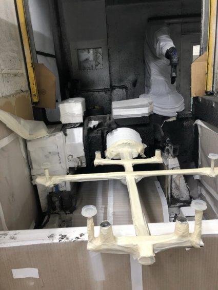 Roboter Kleberauftragszelle B+M Surface System mit Heißluftofen zu verkaufen