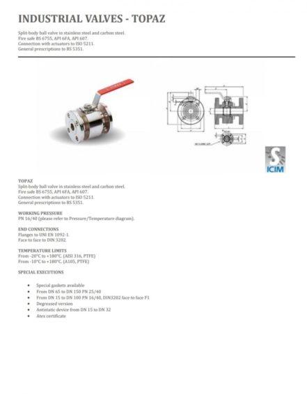 Промышленные клапаны Шаровый клапан TOPAZ DN200 PN40 + одностороннего действия привода в продаже
