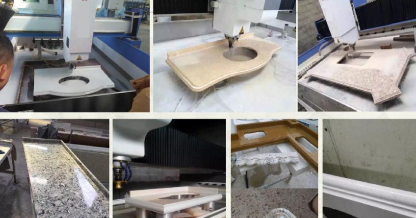 3-Achs Fräsmaschine für Arbeitsplattenbearbeitung Bj 2019 zu verkaufen