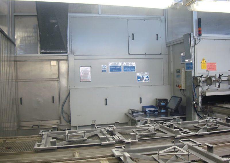 Lackieranlage SPRIMAG Lackiermaschine mit 2 Kabinen zu verkaufen