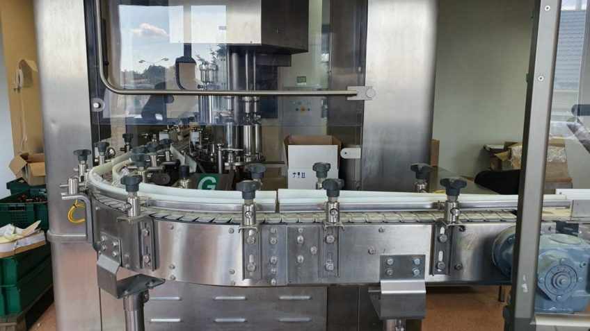 Rommelag bottlepack 3012 Машина для выдувания, наполнения и укупорки флаконов 50/100 мл с инспекционной машиной Bonfiglioli в продаже