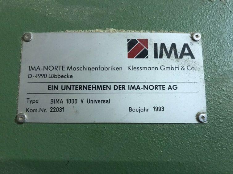 CNC machining centre IMA BIMA 1000 V Universal zu verkaufen