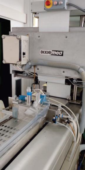 Dixie Med DV2000 Verpackungsmaschine PA/PE Folienverpackung Papierverpackung Medizintechnik zu verkaufen